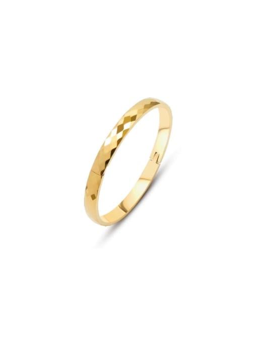 Gold Bracelet Titanium Steel Geometric Vintage Band Bangle