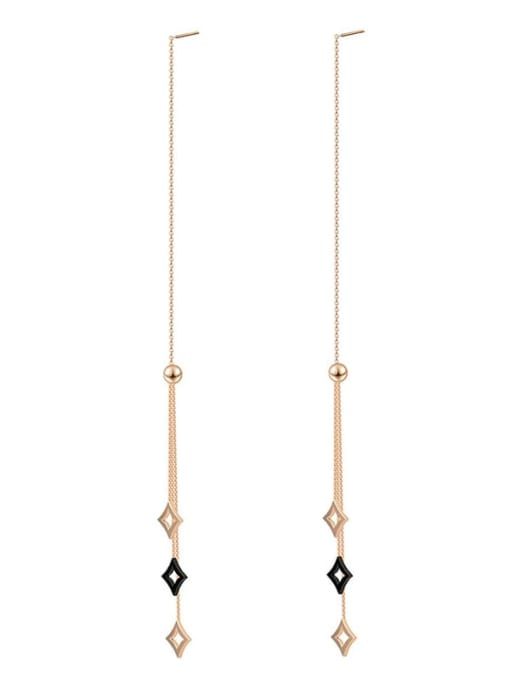 YAYACH Long tassel color preserving 14K titanium steel earrings