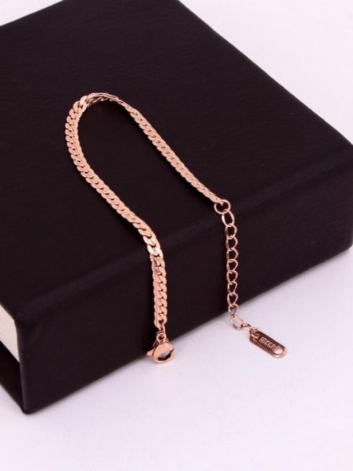 K.Love Titanium Steel Geometric Minimalist Link Bracelet 2