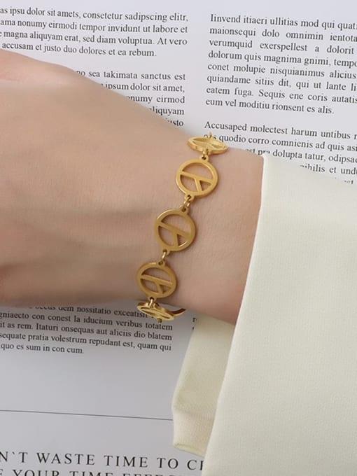 MAKA Titanium Steel Hollow Geometric Minimalist Bracelet 2