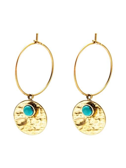 Green Fashion natural stone earrings