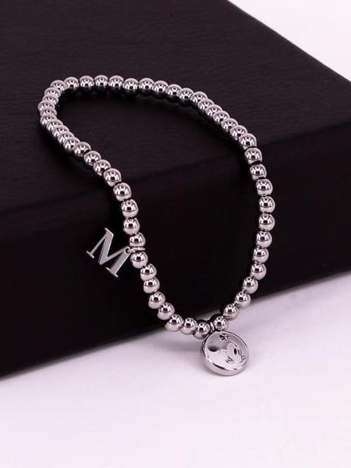 K.Love Titanium Steel Bead Mouse Minimalist Beaded Bracelet 4
