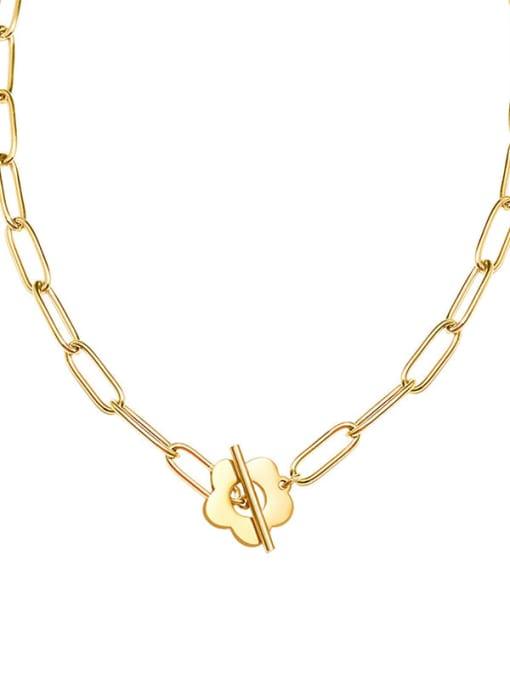 MAKA Titanium Steel Geometric Hip Hop Necklace 1