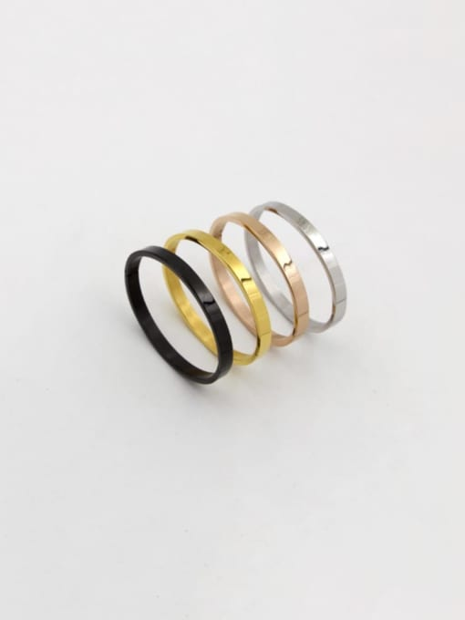 K.Love Titanium Steel Smooth Geometric Minimalist Band Bangle 0