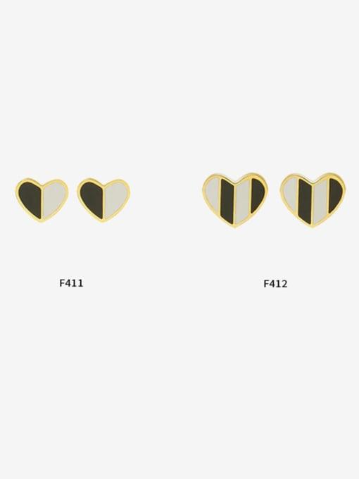 MAKA Titanium Steel Shell Heart Minimalist Stud Earring 0