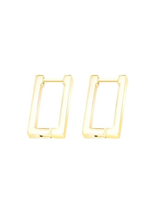 MAKA Titanium 316L Stainless Steel Geometric Minimalist Huggie Earring with e-coated waterproof 0