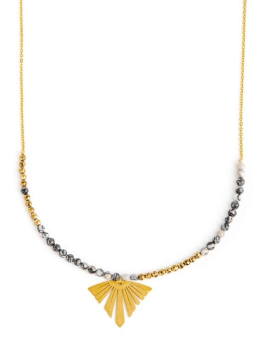 YAYACH European and American long natural stone beaded chain sweater chain 0