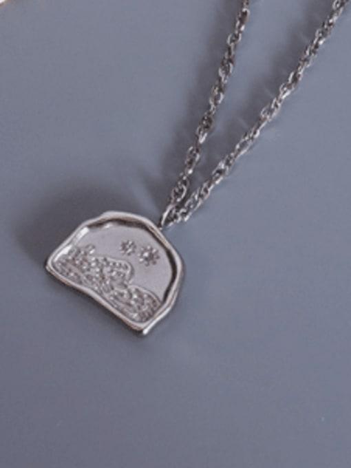 Nsteel color Titanium Steel Geometric Minimalist Necklace