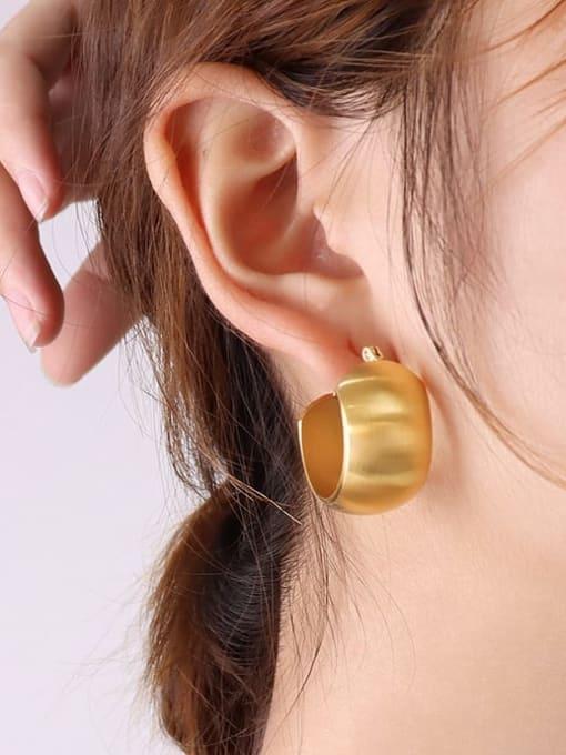 MAKA Titanium Steel Geometric Minimalist Stud Earring 1