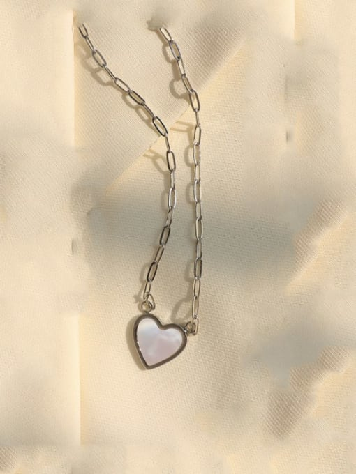 Steel Titanium Steel Shell Heart Minimalist Necklace