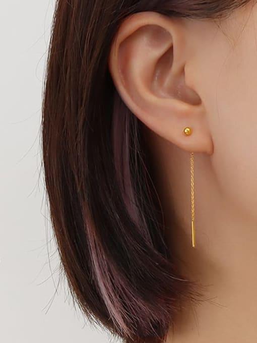 5cm ear line pair Titanium Steel Tassel Minimalist Threader Earring