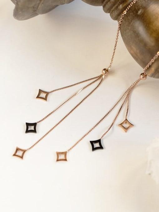 YAYACH Long tassel color preserving 14K titanium steel earrings 1