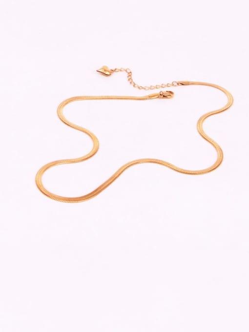 K.Love Titanium Steel  Minimalist  Snake bone  Chain 0