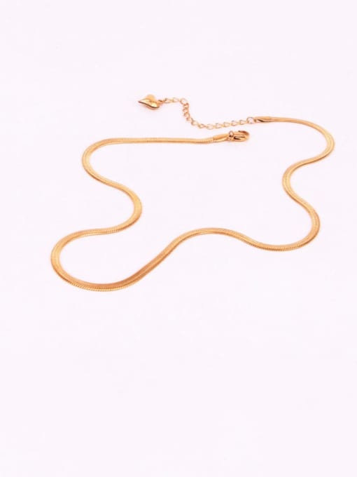 K.Love Titanium Steel  Minimalist  Snake bone  Chain