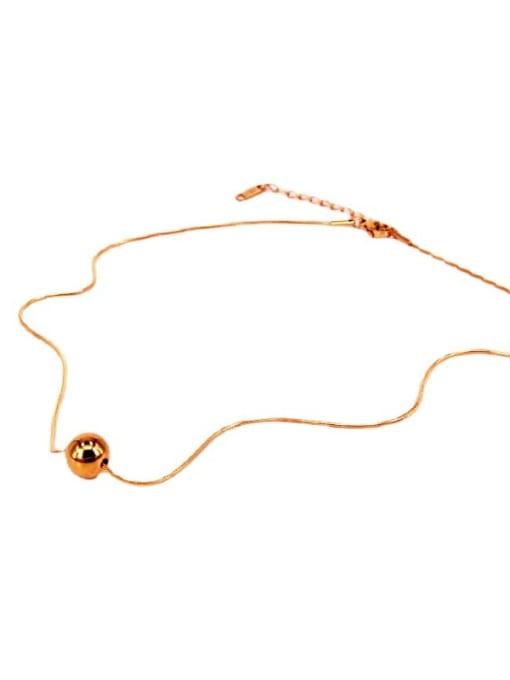 K.Love Titanium Steel Round Bead  Minimalist Necklace 1
