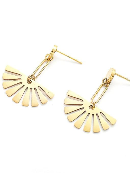 YAYACH Fan fashion exquisite Earrings