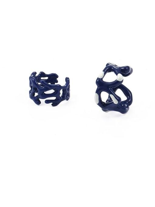 Five Color Zinc Alloy Enamel Geometric Minimalist Band Ring 4
