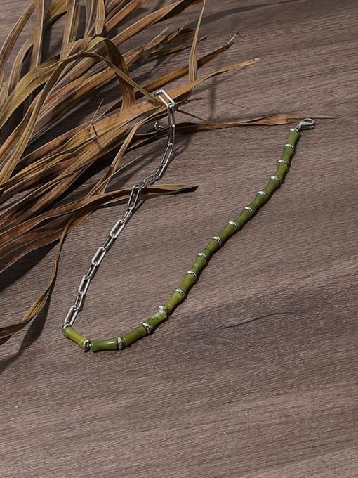 TINGS Brass Enamel Geometric Vintage Necklace 3