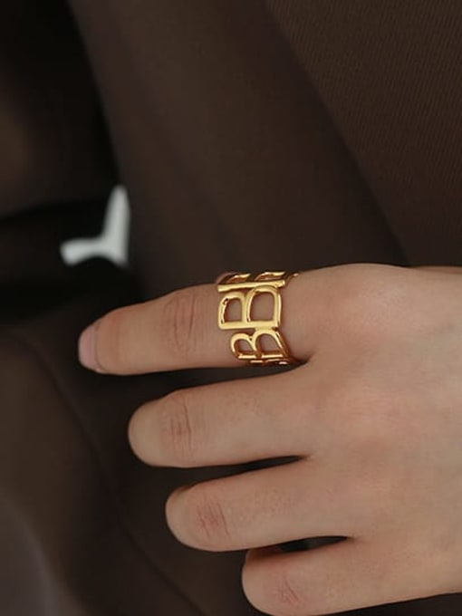 ACCA Brass Hollow Geometric Vintage Band Ring 3