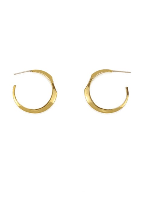 ACCA Brass Smooth Geometric Minimalist Stud Earring 0