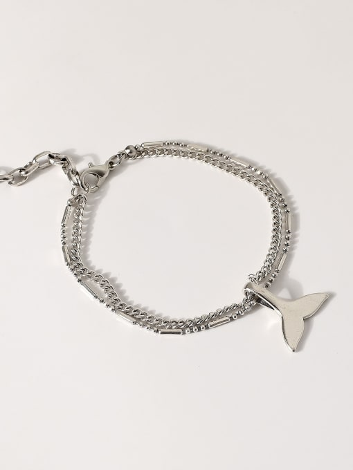 Retro Alloy Fish tail Vintage Strand Bracelet