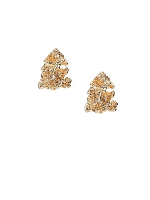 ACCA Brass Irregular Hip Hop Stud Earring 0