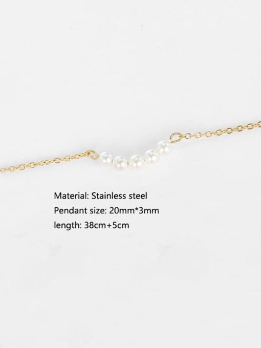 Desoto Stainless steel Geometric Minimalist Multi Strand Necklace 2