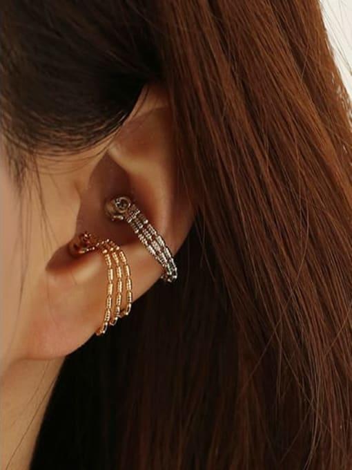 ACCA Brass Bead Tassel Vintage Single Earring 1