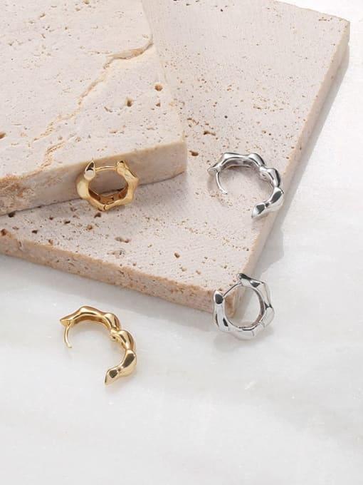 TINGS Brass Geometric Vintage Huggie Earring
