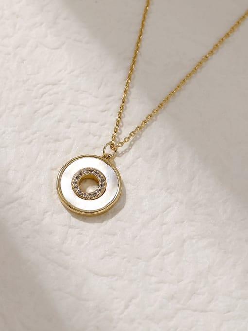 HYACINTH Brass Shell Geometric Minimalist Trend Korean Fashion Necklace