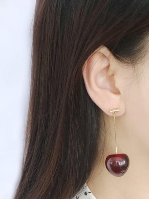 Five Color Alloy Friut Minimalist Earring 2
