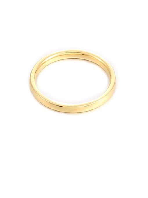2mm wide Titanium Steel Round Minimalist Band Ring