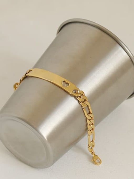 ACCA Brass Smooth Geometric Vintage Bracelet 2