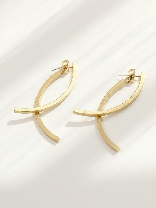 Dumb gold Brass Geometric Minimalist Drop Earring