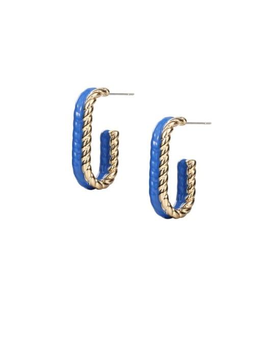 ACCA Brass Enamel Geometric Minimalist Stud Earring 0