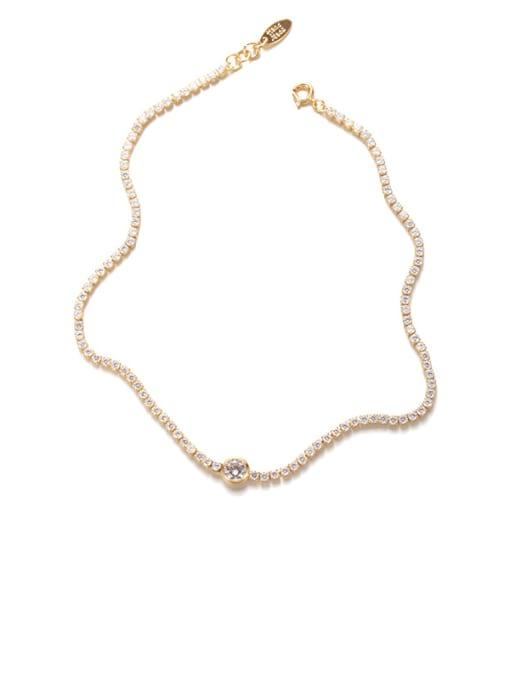 gold Brass Imitation Pearl Geometric Hip Hop Necklace