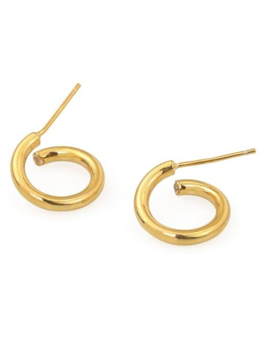 ACCA Brass Ball Hip Hop Stud Earring 3