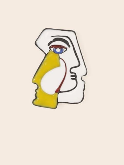 Five Color Alloy Enamel Irregular Cute Stud Earring 2