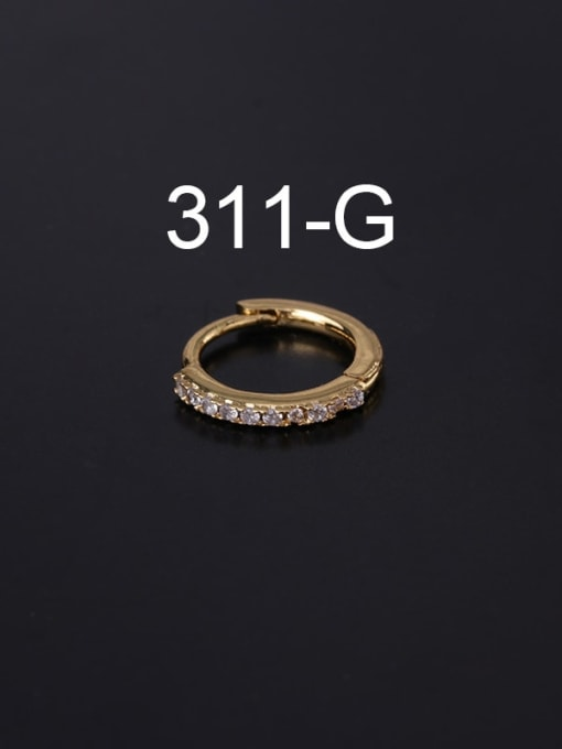 gold(Single ) Brass Cubic Zirconia Geometric Minimalist Single Earring