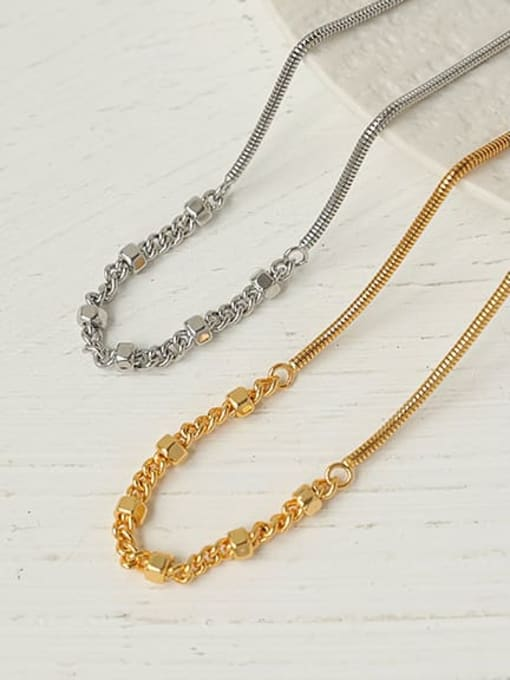 ACCA Brass  Hollow Geometric Hip Hop Necklace 0