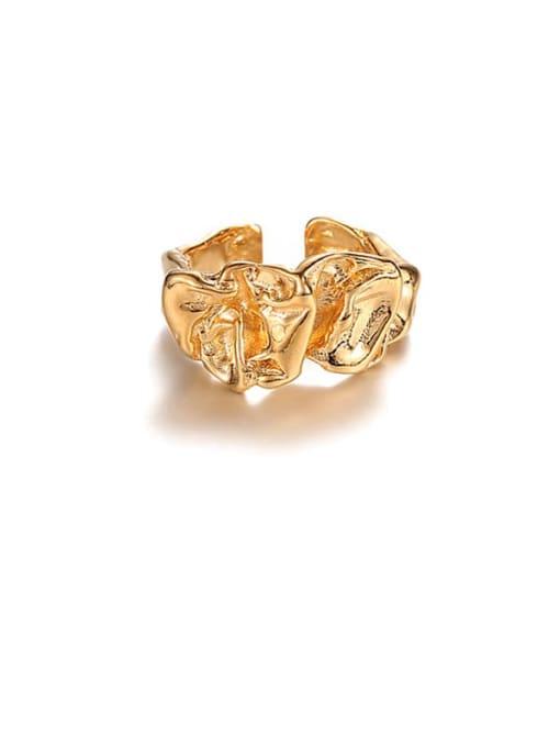 ACCA Brass Irregular Geometric Vintage Band Ring 3