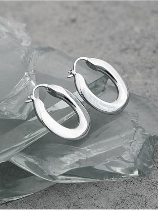 TINGS Brass Geometric Vintage U shape Huggie Earring 1