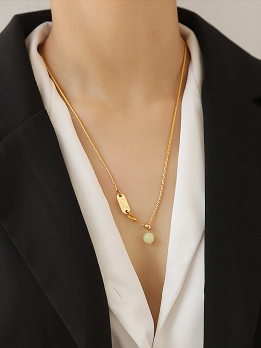 TINGS Brass Geometric Minimalist Necklace 2