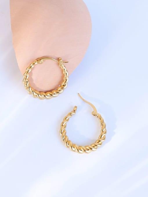 Five Color Brass Geometric Vintage Hoop Earring 2