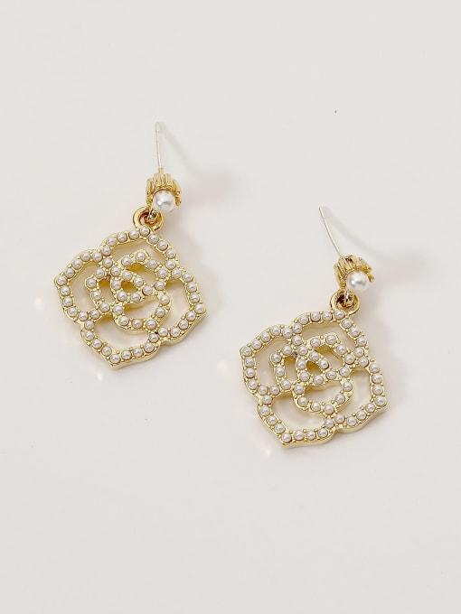HYACINTH Brass Imitation Pearl Geometric Bohemia Hook Earring 0