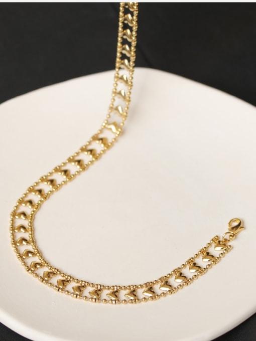 ACCA Brass Hollow Heart Minimalist Choker Necklace 2