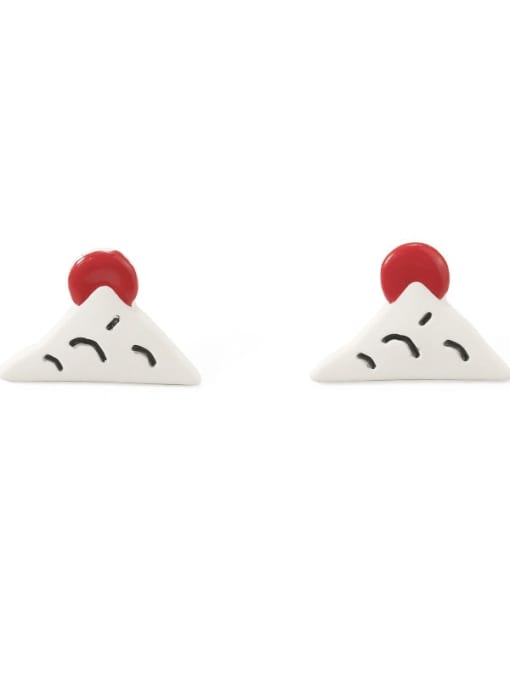 Five Color Alloy Enamel Geometric Cute Stud Earring 3