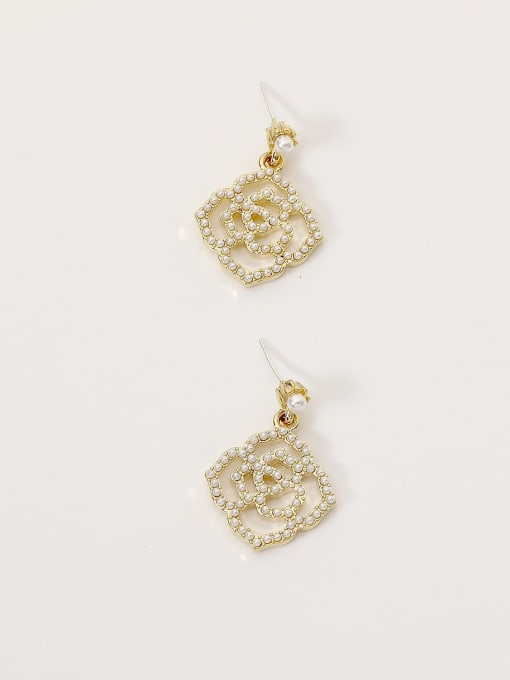 HYACINTH Brass Imitation Pearl Geometric Bohemia Hook Earring 4