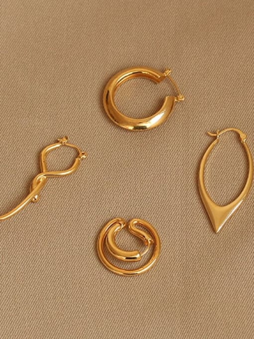 ACCA Brass smooth Geometric Vintage Drop Earring 0