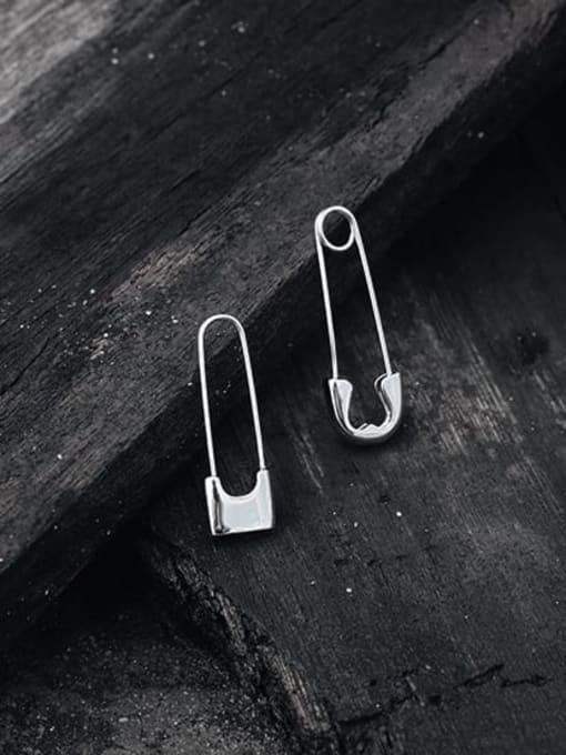 TINGS Brass PIN Geometric Minimalist Huggie Earring 3